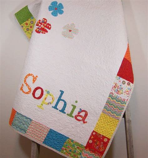 Personalized Baby Quilts by Baby Quilt Blanket Personalized Baby Quilt Blanket