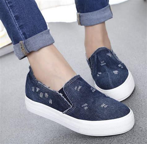 Sepatu Murah Wanita M2m Kets Platform platform 2015 busana musim panas sneakers wanita kasual yang nyaman sepatu bernapas jean
