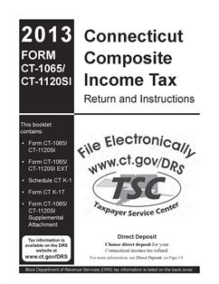 form ct 1065 ct 1120 si fillable 2013 connecticut