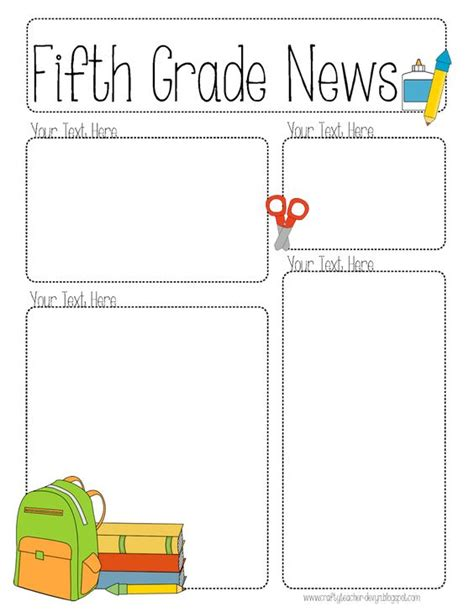 editable templates for teachers the crafty newsletter templates and teaching on
