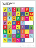 printable alphabet squares alphabet letter squares printable templates coloring