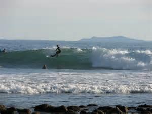 Surfing carpinteria state beach santa barbara california usa