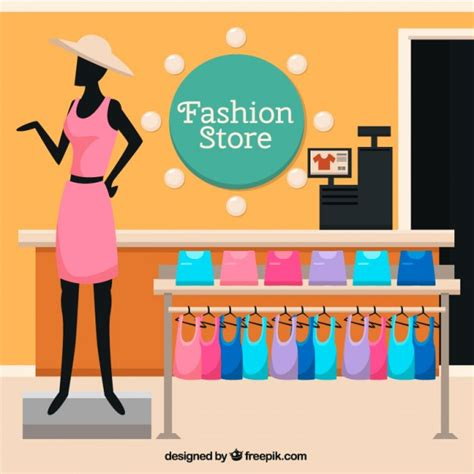 fashion store template fashion store with a mannequin vector free