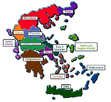 greek climate map
