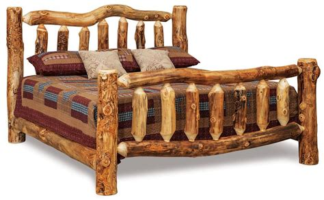 Amish Rustic Log Bed From Dutchcrafters Amish Furniture Rustic Log Bedroom Furniture