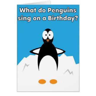 funny penguin jokes greeting cards zazzle