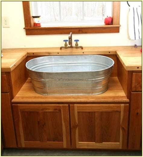 bathtub in kitchen sink galvanized kitchen google search interior design