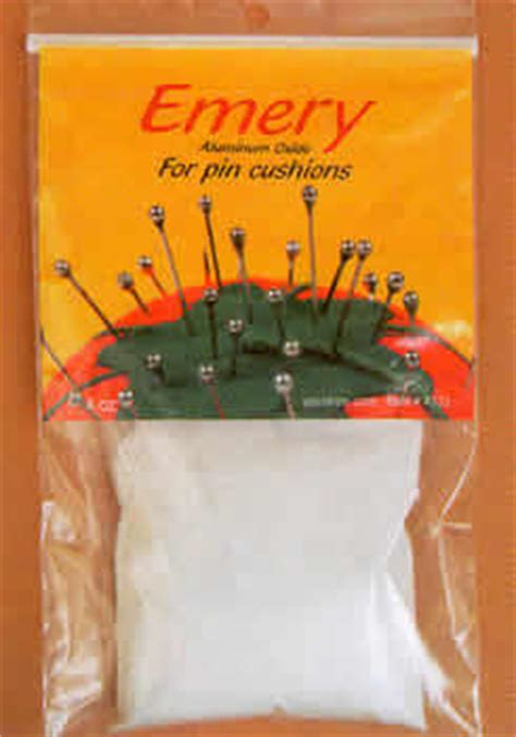 emery packet for your own needle polishing bag