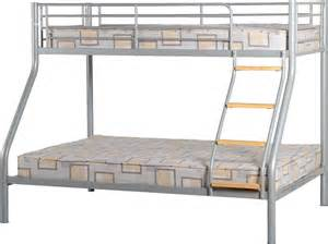 Bunk Bed Frames Uk Persia Three Sleeper Silver Bunk Bed Frame Next Day Delivery