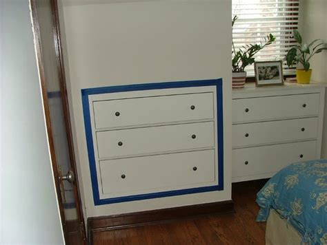 In Wall Dresser by Space Saving Three Drawer Chest Inset Into Plasterboard Wall Ikea Hackers Ikea Hackers