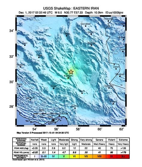 earthquake december 2017 strong and shallow m6 1 earthquake hits iran dozens of