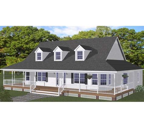 one story farm house plans free home design plans