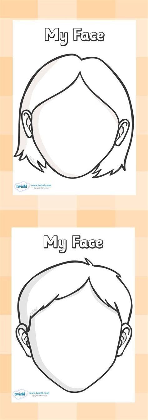 templates for drawing faces blank faces templates free printables children can draw