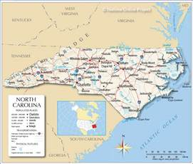 map of carolina major cities reference map of carolina usa nations project