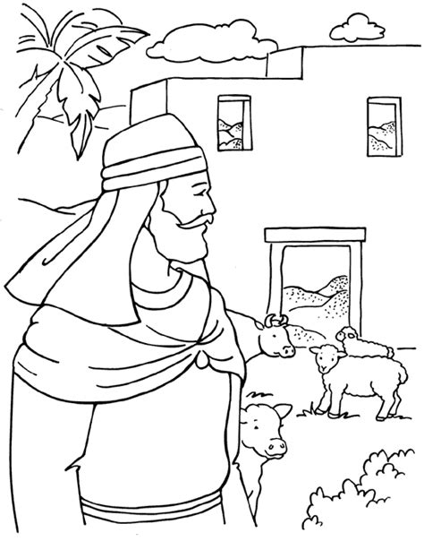 The Greedy Farmer Coloring Page Bible Pictures For Colouring