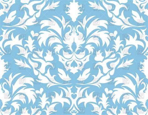 damask seamless pattern vector damask seamless blue pattern vector image 81292 rfclipart