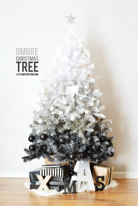 diy ombre christmas tree 187 little inspiration