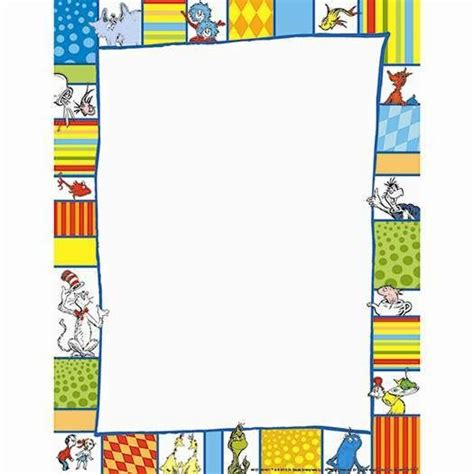 appreciation letter borders dr seuss shapes computer paper eu 812118 has a border
