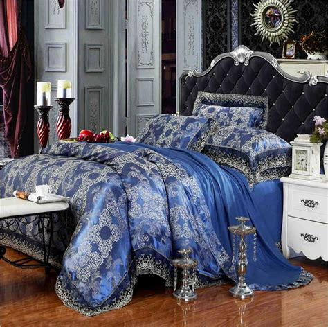 royal blue comforter set queen luxury lace royal blue bedding set 4pcs king queen size
