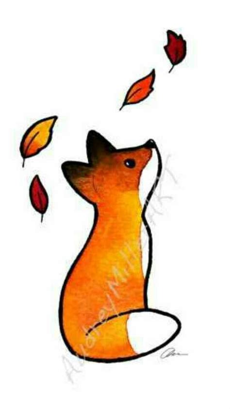 fall fox ink pinterest