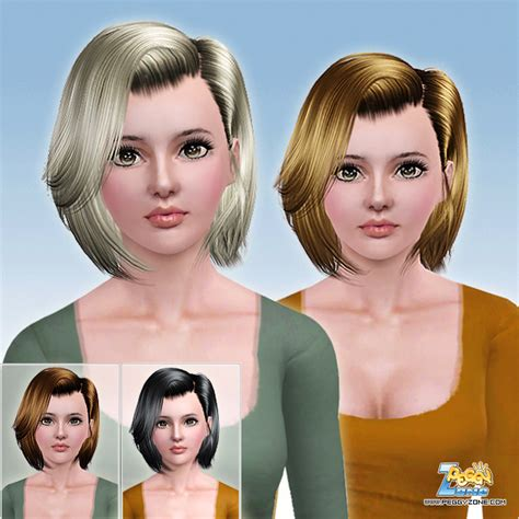 sims 3 custom content fringe hairstyle the sims 3 medium angled bob haircut id 723 by peggy zone
