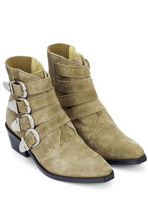 toga pulla khaki suede boots khaki 365ist