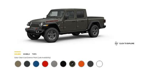 2020 Jeep Gladiator Color Options updated 2020 gladiator colors revealed gobi hydro blue