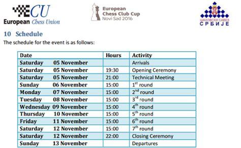 Eccc Calendar Alkaloid Vince L European Club Cup 2016 Scacchierando It