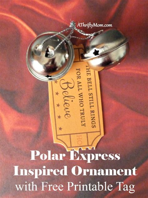 how to make a polar express paper christmas tree polar express inspired ornament with free printable tag a thrifty recipes crafts diy