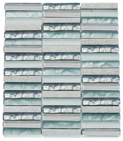 alloy iceland stacked glass tile sheet contemporary mosaic tile by tilebar