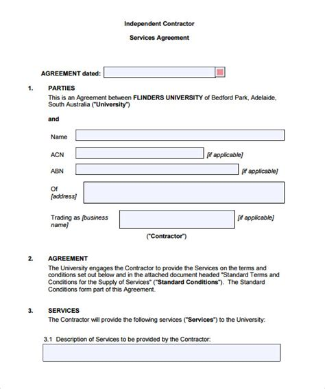 9 Sle Contract Agreements Sle Templates Contract Agreement Letter Template