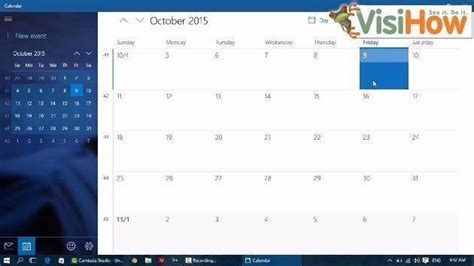 Was The Calendar Changed Change The Calendar View In Windows 10 Visihow
