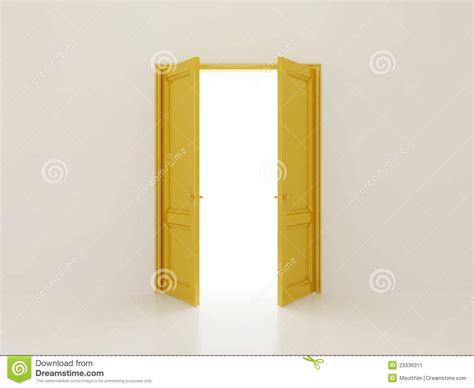 golden doors stock illustration image of yellow home