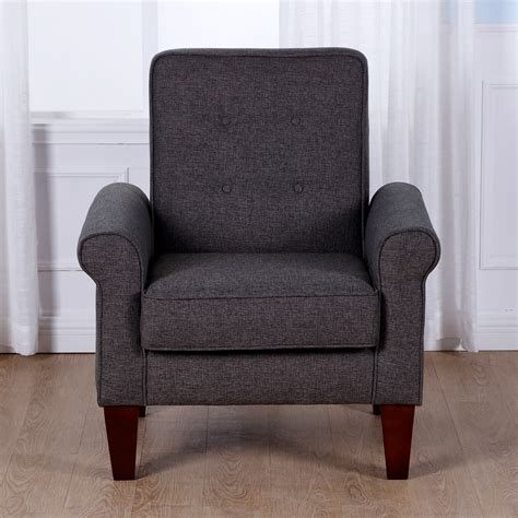 home goods armchairs homcom modern living room armchair accent tufted linen