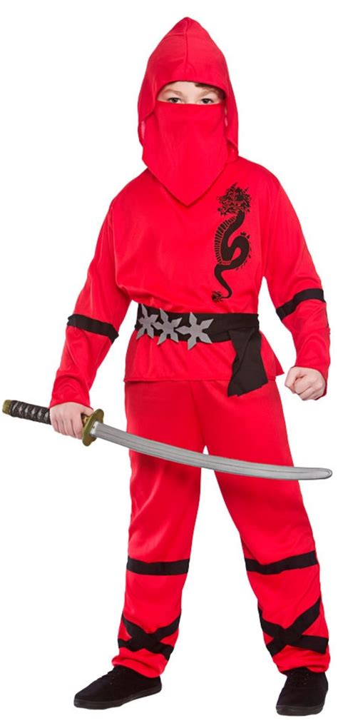 film ninja red red power ninja costume tv book and film costumes