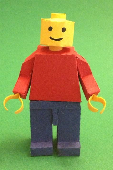 How To Make A Paper Lego - paper lego minifigure by kspudw on deviantart