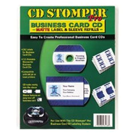 business card cd label template avery 98136 cd stomper pro cd business card
