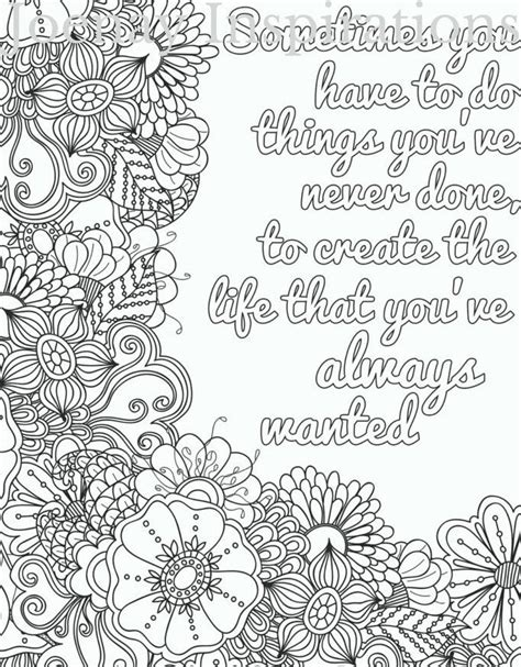 printable coloring quote pages for adults quote adult coloring page by joenayinspirations words