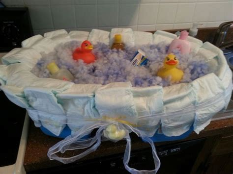 bathtub diaper cake rubber ducky diaper cake tub quates pinterest cakes