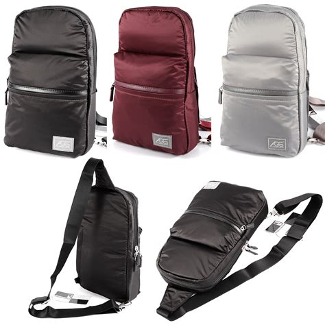 shiny backpack laptop light thin chest sling school bag ebay