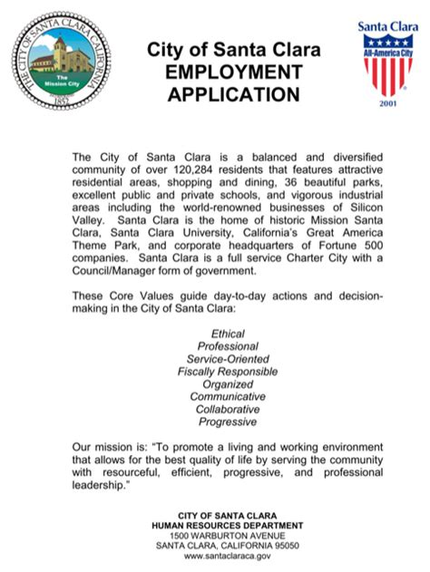 Santa Clara Mba Placement california application form for free