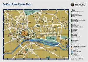 bedford map bedford maps town centre and surrounding area