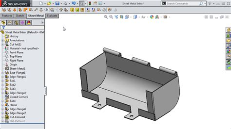 pattern sheet metal solidworks new in solidworks 2015 update training sheet metal