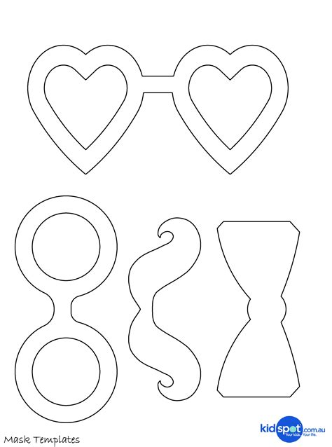 mask templates printable easy costume mask template artist loft and tie pattern