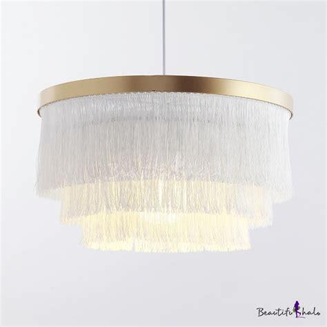 circle hanging light single light rustic tassel chandelier