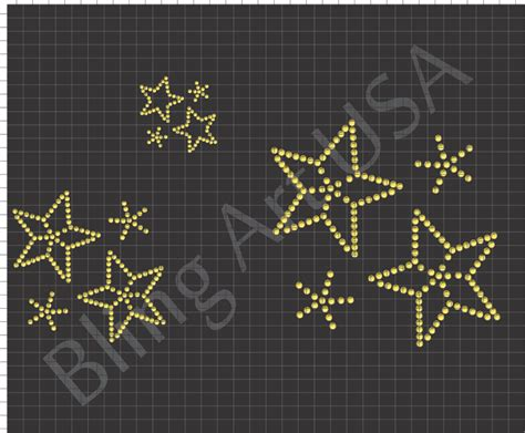 sticky flock rhinestone templates files template bling stencil system shooting