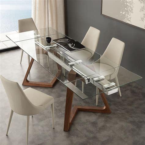 tavolo allungabile vetro tavolo allungabile di design con piano in vetro temperato