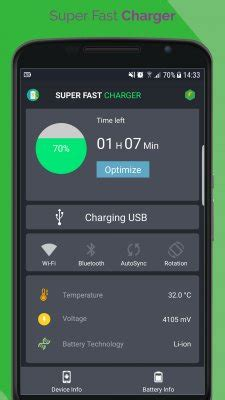 fast battery charger for android fast battery charger free android app android freeware