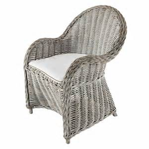 greyed effect white rattan armchair maisons du monde