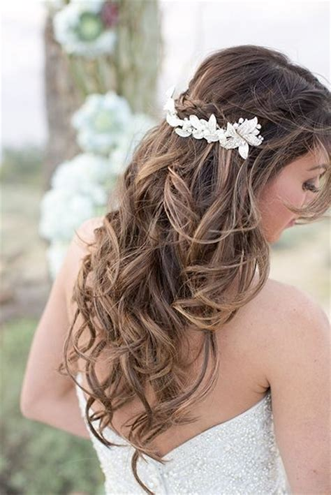 half up half wedding hairstyle idea via and photography